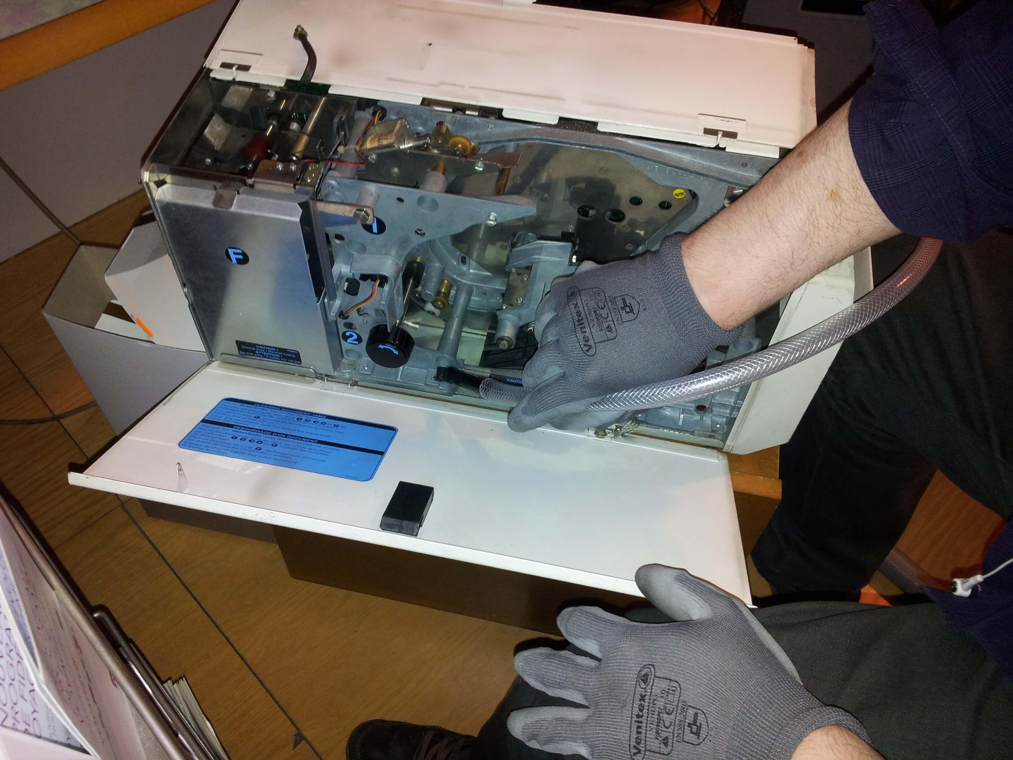 Nettoyage des imprimantes de billetterie