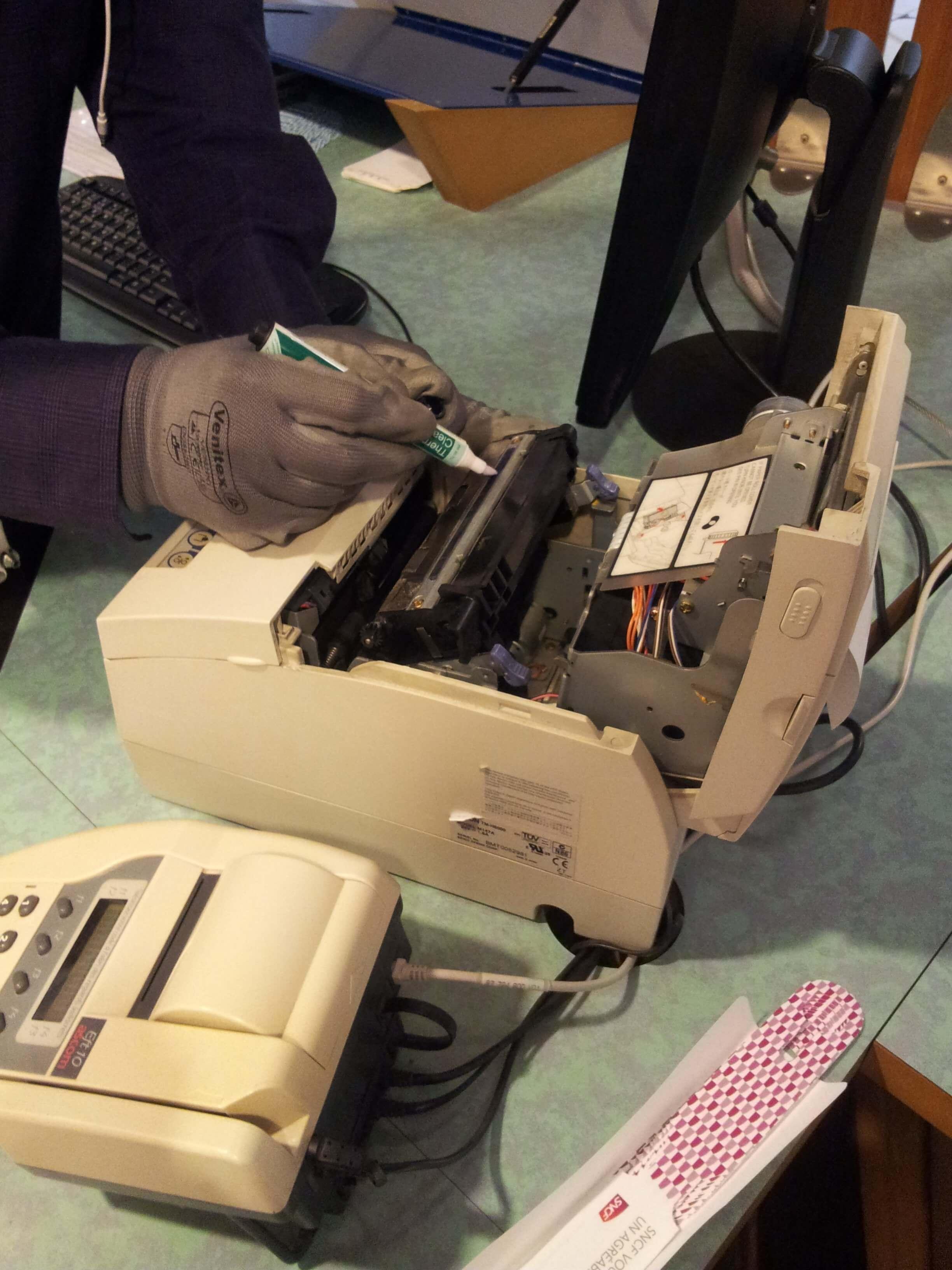 Nettoyage des terminaux de paiements